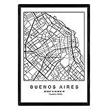 Nacnic Druck Stadtplan Buenos Aires skandinavischer Stil in