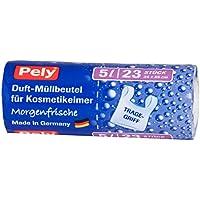 pely 5558 - Bolsas de Basura para Papelera de baño (perfumadas, 5 l, 23 Unidades)