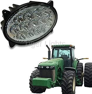LED Oval Headlight Hi/Lo Beam (Fits Case IH Combines: 5088, 6088, 7088, 7120, 7130, 7230, 8010, 8120 +   John Deere Tractors: 8230, 8320, 8330, 8420, 8230, 9330, 9420 +   John Deere Sprayers: 4830 +)