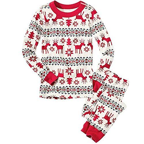 Wollaston Juego de pijama familiar a juego para Navidad, ropa de noche, ropa de noche, ropa de noche, ropa de noche, para combinar con la familia de pajamas, Holiday Christmas Style Printing Lounwear