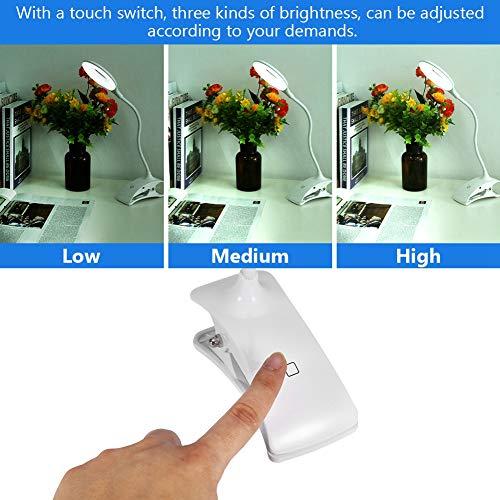 IDWT Lámpara de Escritorio llevada, lámpara de Escritorio llevada Recargable Resistente Flexible, para el Dormitorio casero