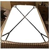 1 Set Criss-Cross Adjustable Bed Fitted Sheet Straps Suspender Gripper Holder Fastener
