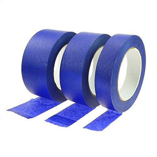 Rotix 60500 - Nastro blu daimbianchino, 25mm x 50m | Nastro da mascheratura per interni ed esterni | 14giorni di resistenza ai raggi UVA–Rimovibile dopo 30giorni senza residui