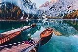 YANCONG 1000 Piece Wooden Jigsaw Puzzles, Paisaje De Montaña del Lago Bresse, Italia Rompecabezas De Madera 75X50Cm