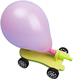 Balloon Car, DIY Handmade Assembly Fun Educational Toys Science Experiments Kit Toy Car for Preschool Education Toy for Kids