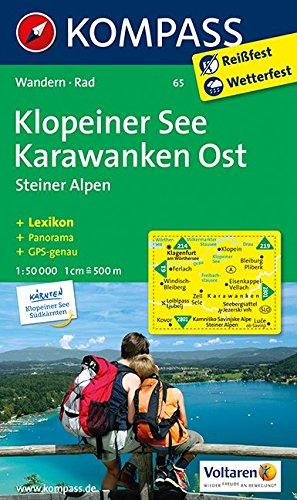 Klopeiner See - Karawanken Ost - Steiner Alpen: Wanderkarte mit KOMPASS-Lexikon und Radwegen. GPS-genau. 1:50000 (KOMPASS-Wanderkarten, Band 65)