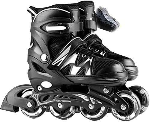 Patines en línea Fibra de carbono ajustable Patines en línea para niños Cuchillas de rodillos de una sola fila para adultos Profesionales Zapatos de patinaje de velocidad en línea Principiante Deporte