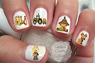 Fall Scarecrows Nail Art Decals