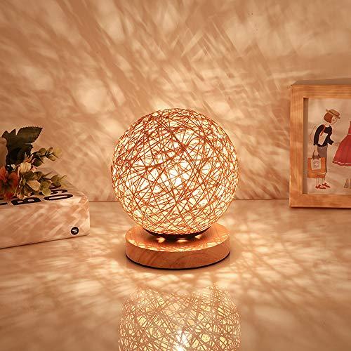 FREENN LED Kreativität Nachtleuchte In die Form von Käfig, mit Holz-Lampenfuß Nachtlicht Moderne Dekoratives Bettleuchte USB Anschluss 3W für Wohnzimmer, Schlafzimmer, Arbeitszimmer, Hotel,Rosa