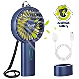 Tvird Handheld Fan Portable, Hand Fan Rechargeable Battery Operated Mini Fan USB Fan Electric Fan Desk fan...