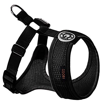 Choke Free Freedom Mesh Harness Specially Made for Small Dogs, X-Small, Black