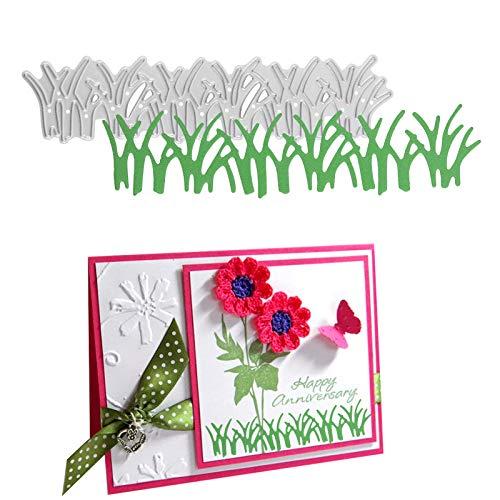 OOTSR Grass Die Cut, Die Cuts for Card Making, Metal Cutting Die, Embossing Stencil Template for DIY Paper Art Craft, Scrapbooking, Photo Album Decor