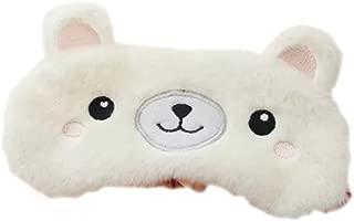 ACTLATI Sleep Eye Mask Cute Animal Night Blindfold with Elastic Strap Soft Eye Cover for Night Sleeping, Travel, Nap