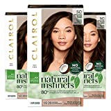 Clairol Natural instincts Permanent Hair Color, 5C Brass Free Medium Brown, Peppercorn, Pack of 3