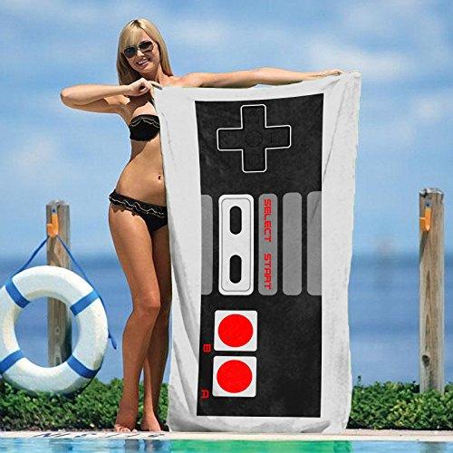 Retro Art Decor NES Controller Beach Towel
