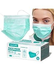 Medrull chirurgisch masker CE gecertificeerd EN 14683 medische gebitsbeschermer (50 stuks), chirurgische maskers voor, 3-laags, met elastische oorlussen, wegwerp mond- en neusbescherming