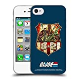 Official G.I. Joe Roadblock Badge 1982 Graphics Soft Gel Case Compatible for Apple iPhone 4 / iPhone 4S