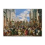 Rompecabezas de boda en Cana, 500 piezas para adultos - Puzzle de obras de arte - Juguetes coloridos para la educación y la relajación