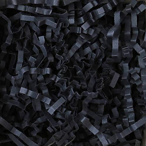 2 KG PresentFill®️ Füllmaterial umweltfreundliches Polstermaterial Schwarz aus 100% Recycling Papier für Geschenkkörbe Geschenke Pakete Versand - Verpackungsmaterial zum Verpacken | Füllen | Polstern | Ausstopfen | Dekorieren