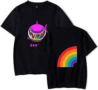 Silver Basic Basketball T Shirt Comodo Fan di Basket con Stampa Hero a Maniche Corte