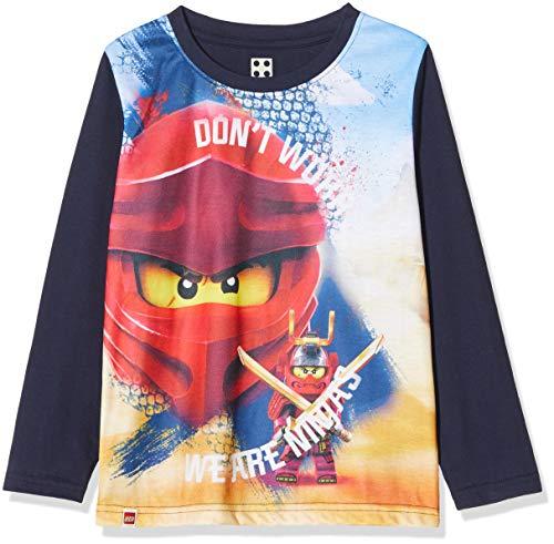 LEGO Jungen cm Ninjago Langarmshirt, Mehrfarbig (Dark Navy 590), (Herstellergröße: 122)