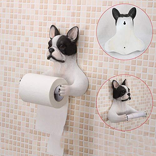 Toilet Roll Holder Toilet Tissue Holder Dispenser Storage Creative Toilet Paper Holder Dog Bathroom Toilet Bathroom Toilet Paper Box Toilet Tray Hand Towel Box Bracket Roll Paper Tube Rack (Color : Hu