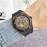 Chica reloj regalo de cumpleaños regalo del día de Mira el esqueleto de los hombres relojes mecánicos automáticos de oro esqueleto retro relojes para hombres y relojes de mujer Relojes para hombre 3