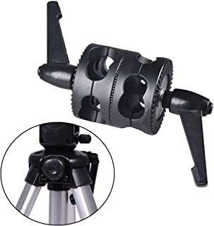 OSISTER7 Dual Swivel Grip Head Clamp Swivel Dual Head Grip Holder Bracket for Light Stand Extension Boom Arm and Photography Studio Flash Reflektor