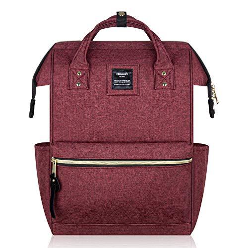 Hethrone Damen Rucksack Laptop Backpack 15,6 Zoll Wasserdicht Schulrucksack Anti Diebstahl Tagesrucksack ür Schule Uni Reisen Freizeit Job mit Laptopfach Weinrot