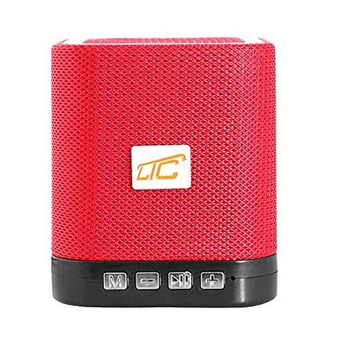 LTC LXBT201 Kabelloser Tragbarer Bluetooth Lautsprecher AUX MicroSD 3W Akku (Rot)