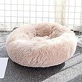 Aliuciku Cama para Perros Camas para Gatos Camas Largas De Felpa para Donas Cama Relajante para Mascotas Cojín para Perros Pequeños Y Grandes (Color : Beige, Size : S-50cm)