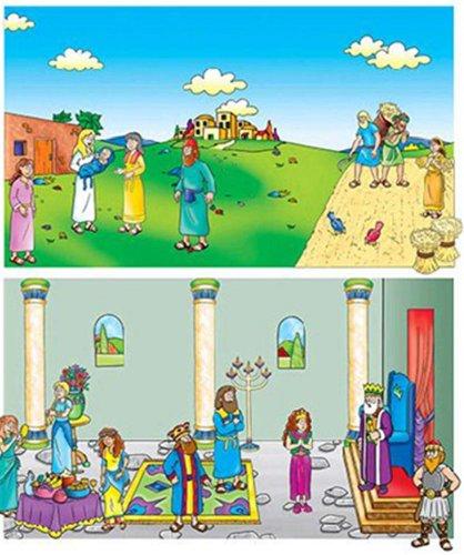 Little Folk Visuals Beginners Bible: Ruth and Esther Precut Flannel/Felt Board Figures, 19 Pieces Set