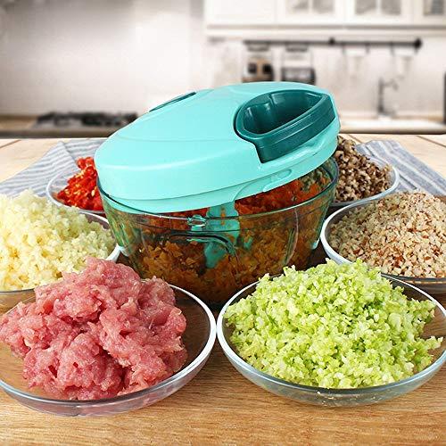 Mini-Mixer / Küchenschneider, leistungsstark, manuell, 3 Klingen, Gemüse, Zwiebeln, Obst, Fleischwolf (450 ml)