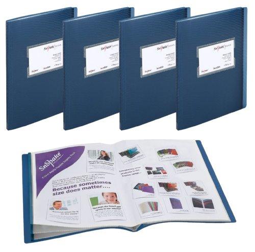 Snopake Fusion Sichtbücher, Fächer für 20 A4- oder 40 A5-Blätter, 5Stück blau