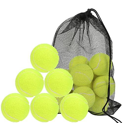 18pcs Palline da Tennis, con Borsa a Rete,Palline da Tennis Durevoli, Palline da Tennis,Pallina Rimbalzante per Adulti,Bambini,Animali Domestici,Palline da Tennis per Competizione e Allenamento