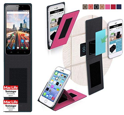 Hülle für Archos 55 Helium Plus Tasche Cover Hülle Bumper | Pink | Testsieger