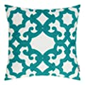 HWY 50 Throw Pillows Cases 18 x 18 inch, A Piece Cotton Canvas Embroidery Decorative Throw Pillow Covers Couch Sofa Bed, Floral Cushion Covers