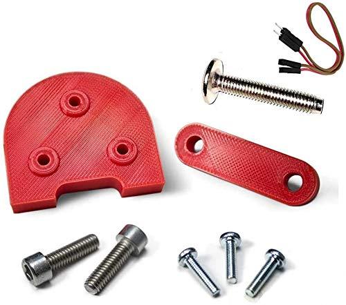 Mfs Myfuturshop® Kit Piezas para Usar Ruedas de 10 Pulgadas en Patinete Xiaomi m365 y Pro, Levanta el Guardabarros y el Caballete, Accesorio Espaciador para neumáticos Grandes. Rojo