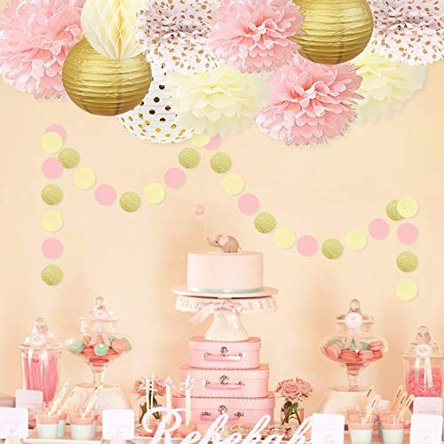 Pink and Gold Princess Party Decorations Set -Girls Birthday Party & Girl Baby (WGW) Shower |Bridal Shower | First Girls Birthday Decoration