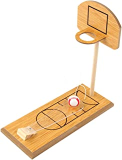 LIOOBO Mini Wooden Basketball Desk Finger Basketball Game Table Sports Toy