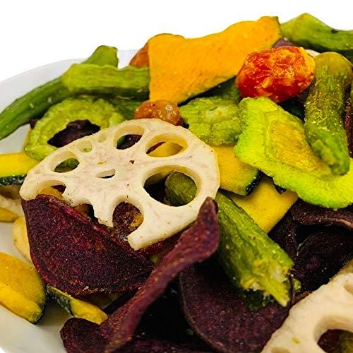 Eight Shop 野菜チップス 300g 7種 かぼちゃ オクラ トマト 紫芋 レンコン ゴーヤ バナナ おやつ おつまみ