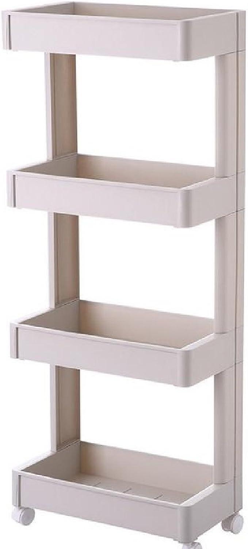 Winwinus Shelving Unit Casters Heavy Duty with Adjustable Dressy Wire General Ledge Shelf Khaki 2 Shelves