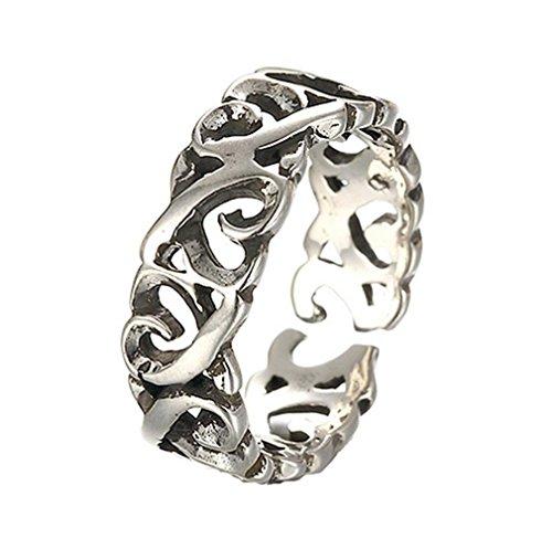 GYJUN Bague Fashion / réglable Daily / Casual bijoux femmes argentée Sterling / argentée / 1pc hommes , silver