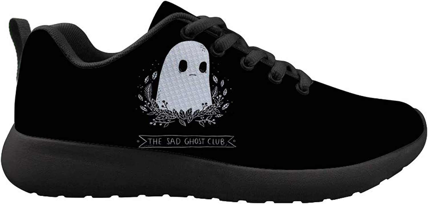 Owaheson Cushioning Sneaker Trail Running shoes Mens Womens Halloween The Sad Ghost Club
