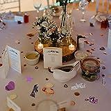 Okaytec Streudeko Hochzeit Streudeko Tisch Konfetti - Hochzeit Konfetti Schöne Deko Konfetti Tischdeko Tischkonfetti Tischdekoration für Hochzeit Zeremonie Party (Stil Rosa Grau- über 1800 STK) - 5