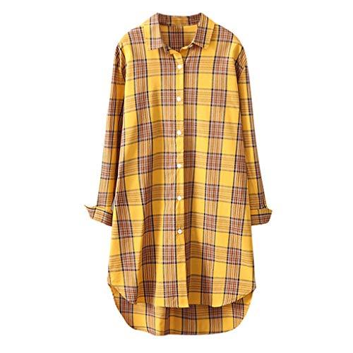 Zarupeng lange geruit hemd gebreide jas dames dunne lange mouwen mantel casual losse omlegkraag plaid shirt blouse overhemd