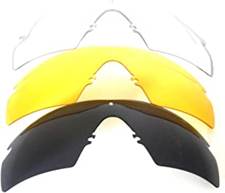 Galaxy Replacement Lenses For Oakley Si Ballistic M Frame 2.0 Z87 Black/Yellow/Clear
