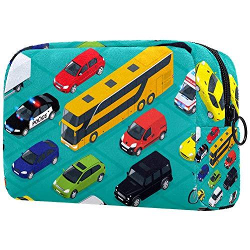 Borsa per pennelli da trucco, portatile, per articoli da toeletta da donna, borsa cosmetica, organizer da viaggio, cargo, camion fuoristrada, autobus