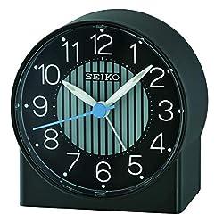SEIKO Asami Bedside Alarm Clock, Black