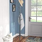 Vlush Sturdy Coat Rack Stand-Coat Hat Tree Coat Hanger Holder Stand for Clothes,Scarves,Handbags,Umbrella-(8 Hooks,Gray)
